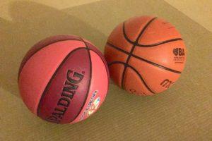 2種類のバスケットボール