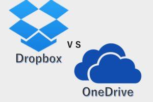 DropboxとOneDriveのアイコン
