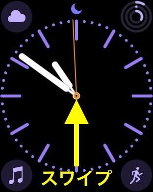 AppleWatchの時計画面