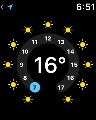 AppleWatchで天気予報